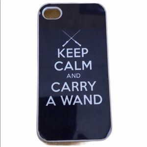 Keep Calm Carry Wand iPhone 4 Case